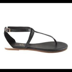 Yosi Samra | Black & White Leather Sandals | Sz 9